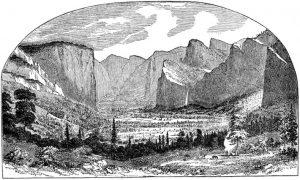 YosemiteValley1stSketchThomasAyres1855